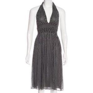 Diane Von Furstenberg Anais Silk Star Print Dress